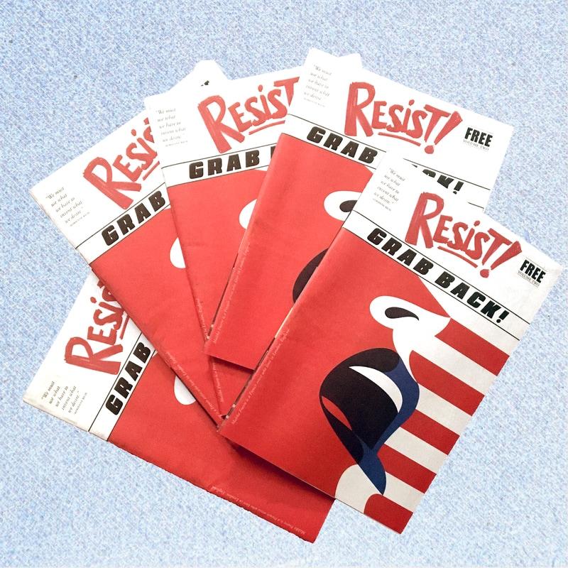 Resist!, un magazine au poing levé contre Trump