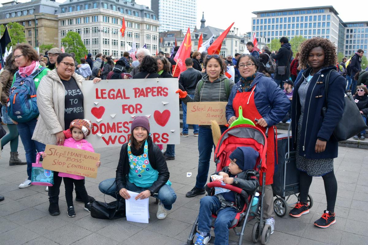 Le 1er mai, les nettoyeuses philippines ont fait entendre leur voix